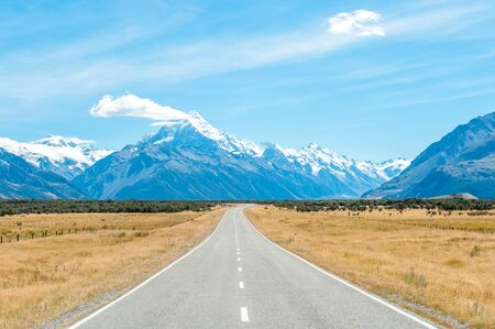 aoraki mount cook national park: Mackenzie country and Mount Cook, South Island, New Zealand
