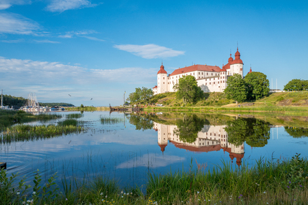 voted: Summer evening by Lake Vanern and Lacko Castle. Lacko castle dating back to the 13th century has been voted as the most beautiful castle in Sweden.