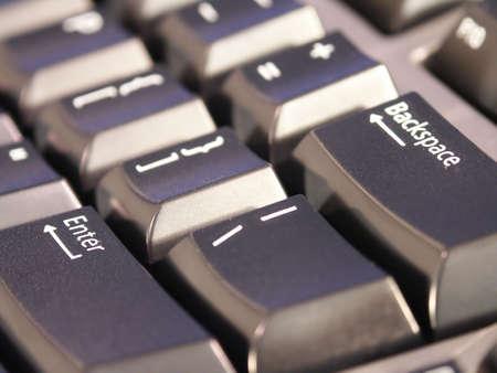 A tech looking keyboard closeup photo