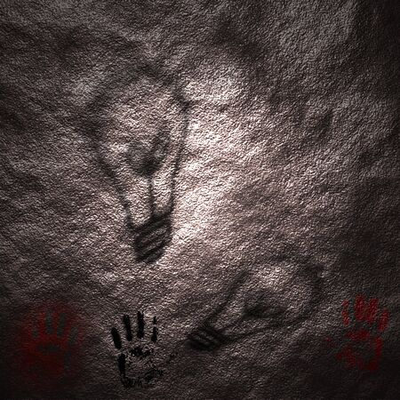 Shadows of ideas on a neolithic cave wall Stock Photo - 429953