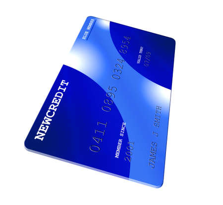 Credit card on white Stock Photo - 503673