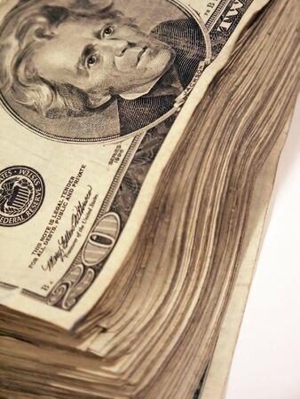 Stack of US money Stock fotó