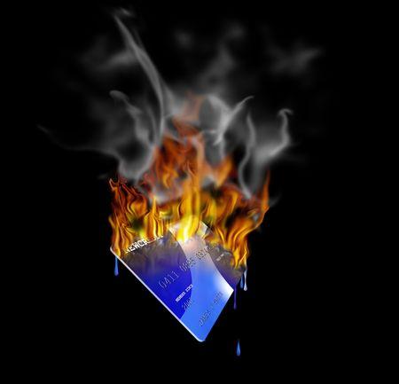 A burning credit card