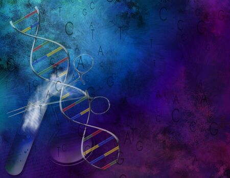 A painterly Science and DNA Composition 2 photo