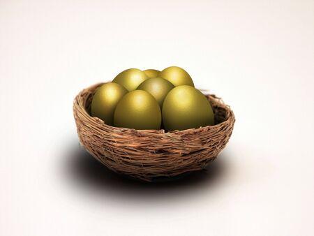 college fund savings:   Nest eggs Stock Photo