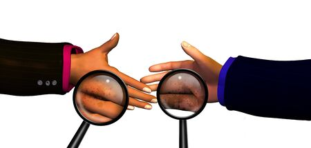 Spreading disease by shaking hands Stock Photo - 834833
