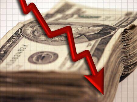 accumulate: Monetary Downturn Stock Photo
