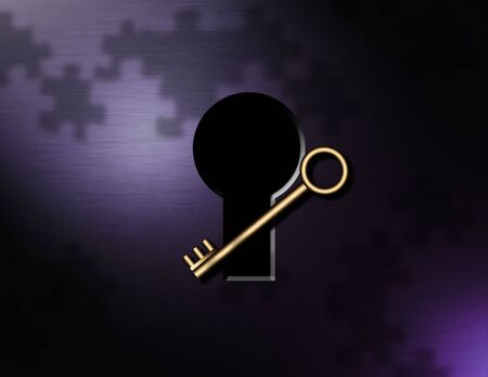 lockout:  Key, puzzle pieces, keyhole