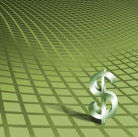 ethos: Dimensional Dollar symbol Stock Photo