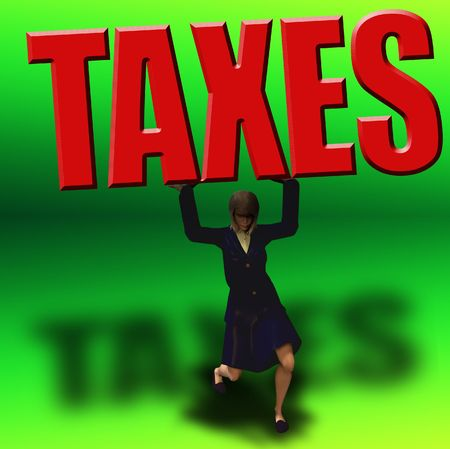 burden:  Tax Burden Stock Photo