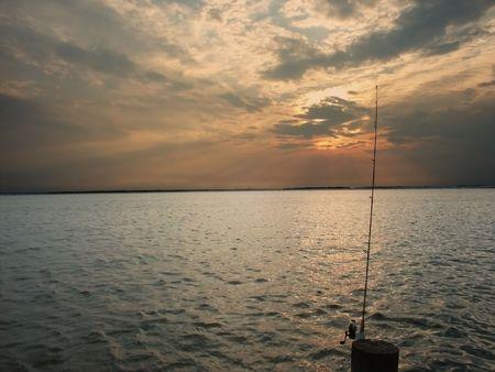 Fishing Sunset Stock Photo - 834693