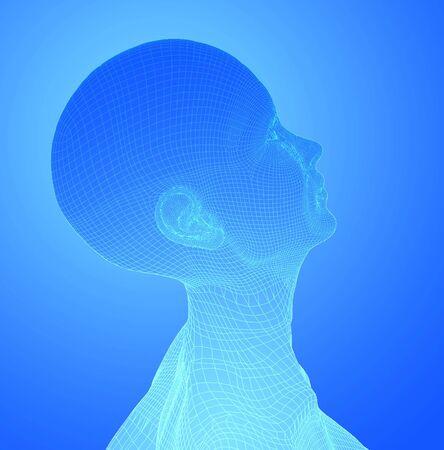 chi healer:  Head on blue