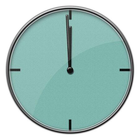 Modern Clock 12:00 Imagens
