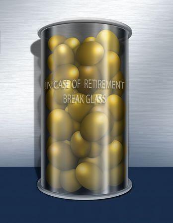 In case of retirement break glass photo