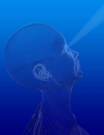 chi healer: Head gazes upward
