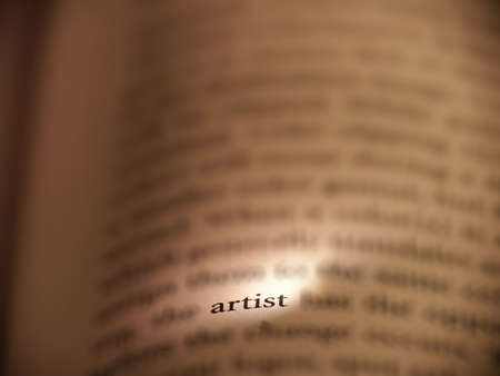 Artist highlighted in a book