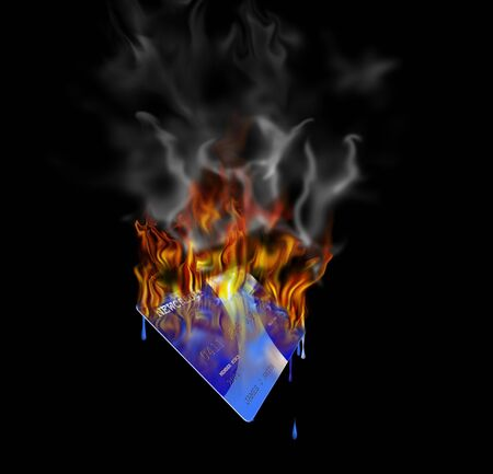 Burning credit card  Stock Photo - 842436