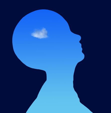 A cloud revealed in a silohoutte of a head Stock Photo - 842405