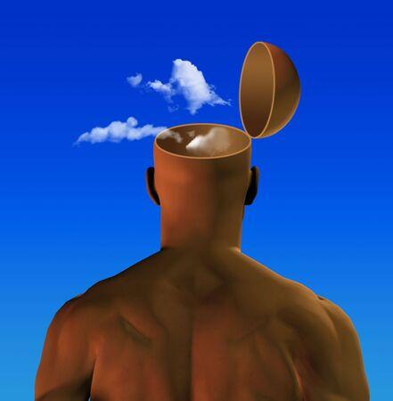 열린 마음, 구름 속의 머리