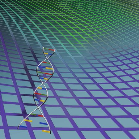DNA strand with background Stock Photo - 844089