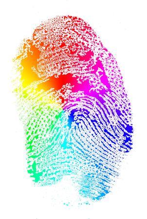 레인보우 손가락 인쇄 스톡 콘텐츠