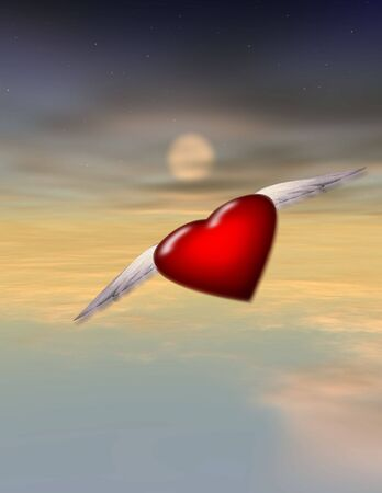 Single Winged Heart - Alone - Lonely - Journey - Love Stock Photo - 844080