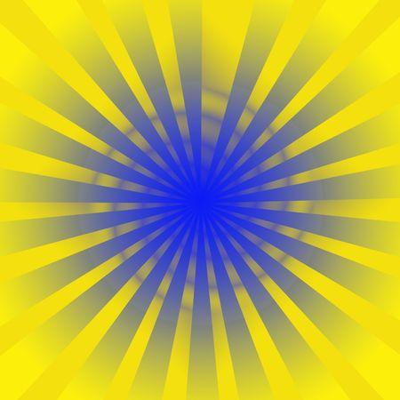 노란색 광선 및 파란 소용돌이