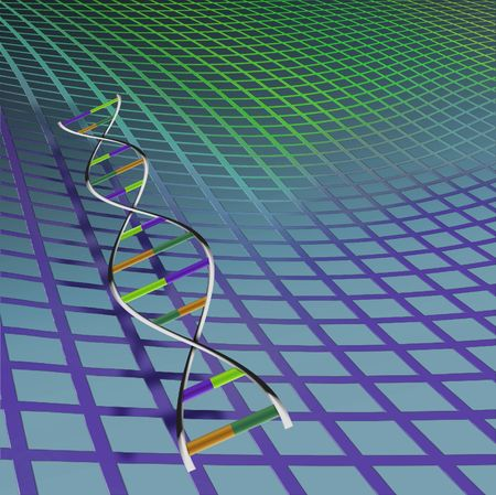 DNA strand with background Stock Photo - 874903