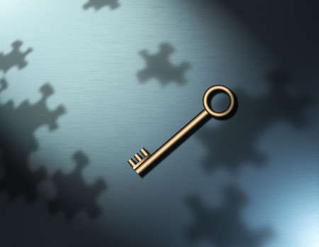 copulate: Key and puzzle piece shadows