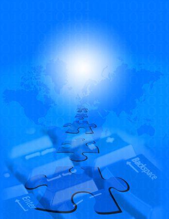 The Internet Puzzle 免版税图像