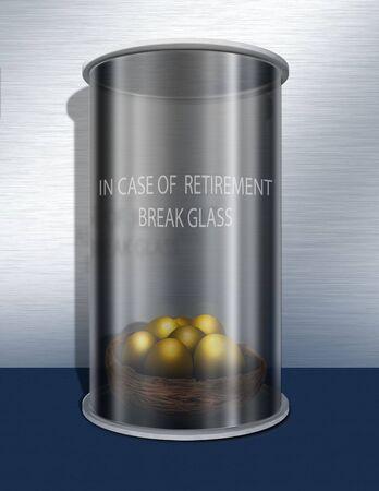 In case of retirement break glas photo