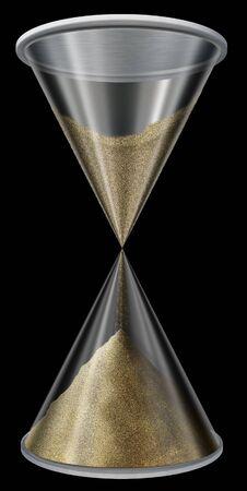 Hourglass on black Stock Photo - 898576