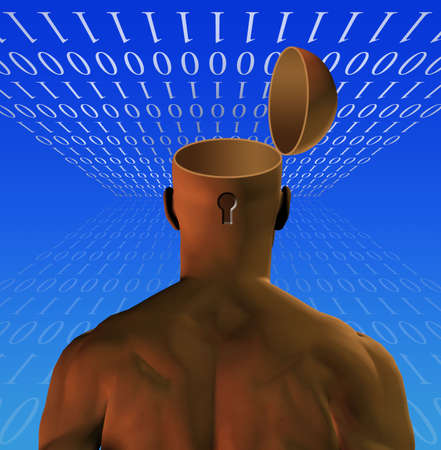 Binary Man Opened Mind photo