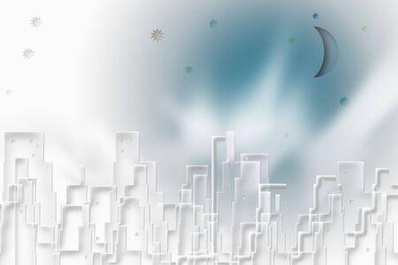 DOWN TOWN: White Cityscape