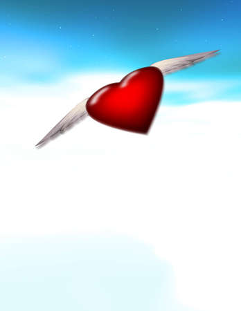 Single Winged Heart - Alone - Lonely - Journey - Love Stock Photo - 1365636