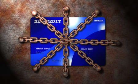 chained credit card photo
