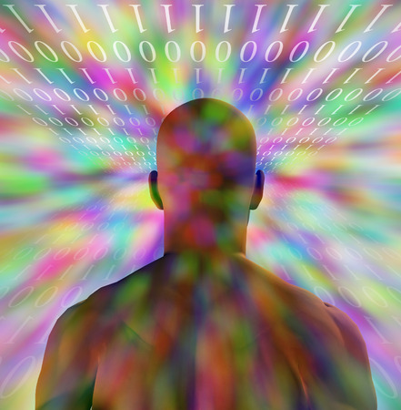 Hi-Res Binary Man Background