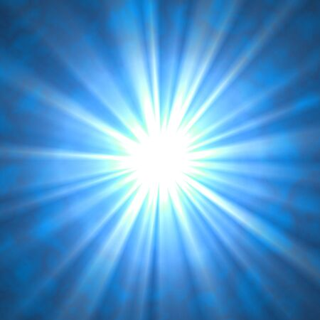Beaming Rays on Blue photo