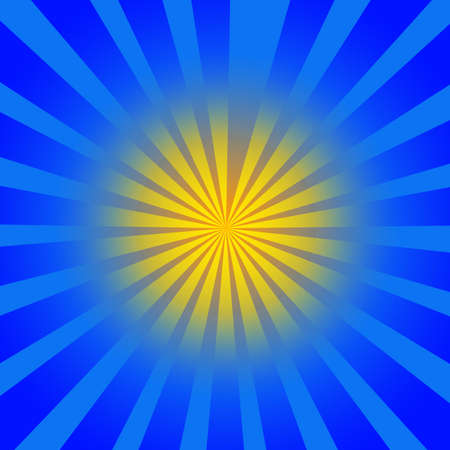 Yellow blue rays Stock Photo