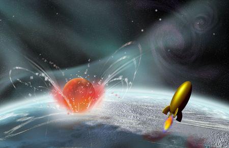 planetarnych: Rakieta w locie, jak jest wpływ planet