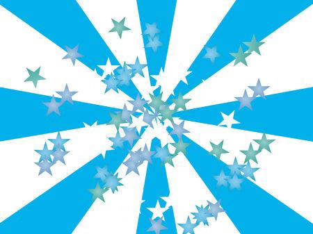 Stars on blue - white Illusztráció