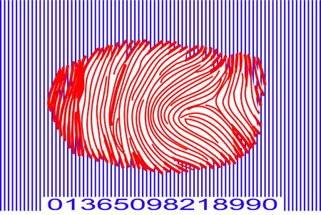 Barcode with Fingerprint Vector