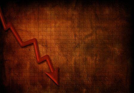 downturn: Grunge business downturn Stock Photo