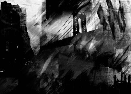 City Industry Black and White 版權商用圖片