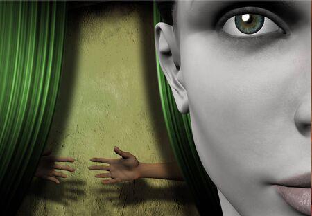 Surreal image represents things hidden photo