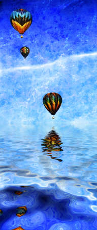untroubled: Balloons in flight