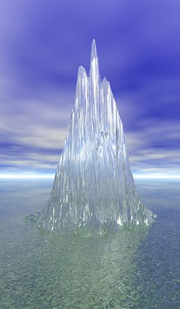 Ice juts out of waters surface 스톡 콘텐츠