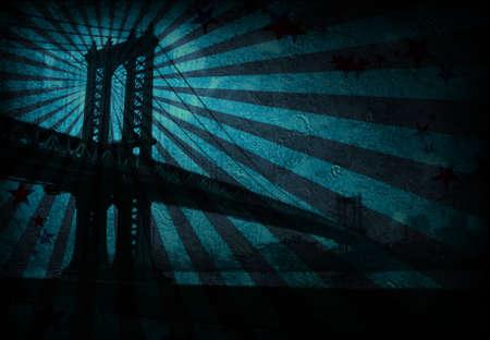 Grunge Bridge Stock fotó