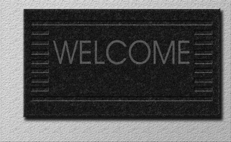 matting: Illustrated Welcome Mat Stock Photo