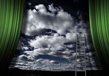 Ladder and stage of sky